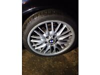 BMW MV1 18 inch E46 ALLOYS WITH TYRES X4 GENUINE
