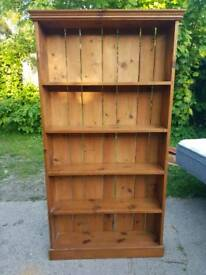 Vintage & Rustic solid pine bookcase