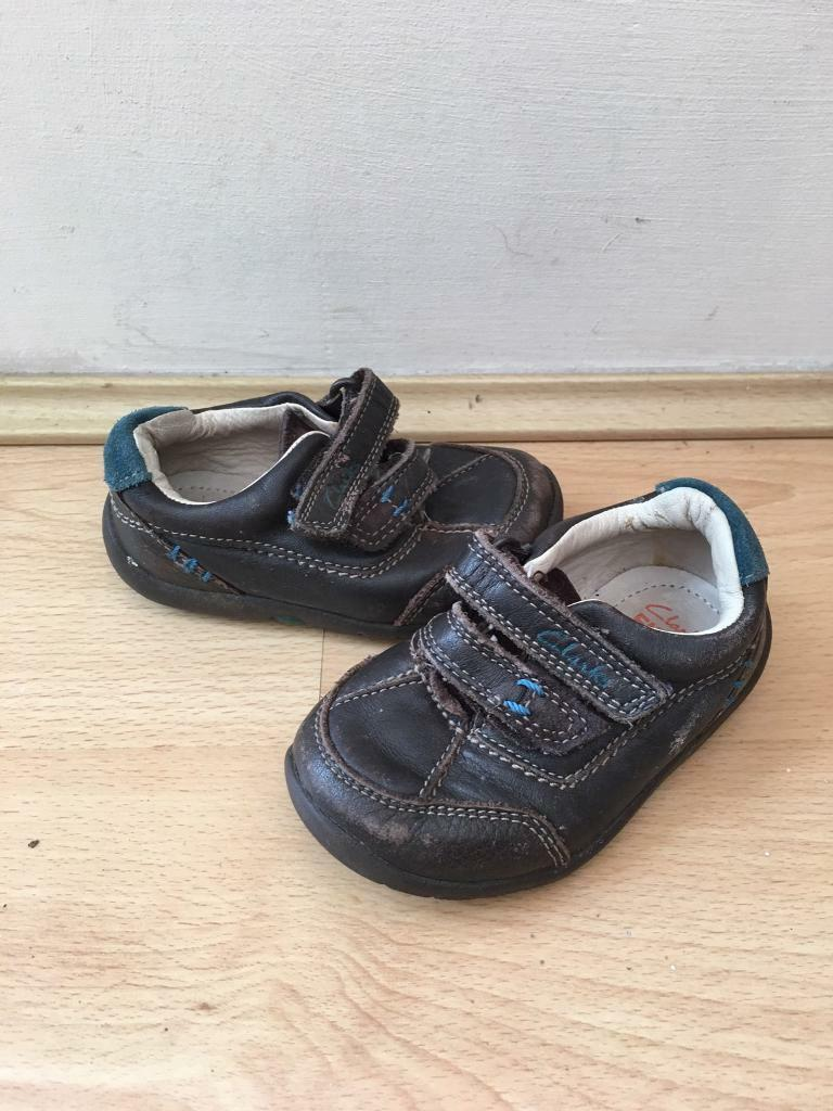 Clarks first boys kids shoes size 3.5H