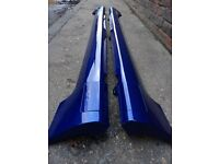 Ford Fiesta ST SIDESKIRTS with JACK POINT COVERS Blue (02 - 08) Zetec S Breaking Spares mk6