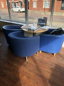 Office table and 5 chairs