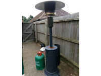 Patio heater, including gas bottle