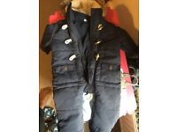 2 Baby boy clothes, winnter jacket/overall 3-6, 6-9 months