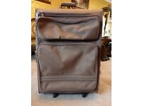 BRICS LARGE 2 WHEEL 'AVIAS' ROLL SUITCASE CANVAS EXTRA FRONT POCKETS
