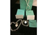 Genuine Tiffany Heart Tag Necklace & Bracelet