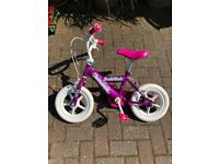 Pink Bike with Stablisers for Aged 3-6