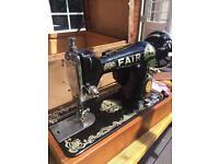 Antique sewing machine FAIR for sale.