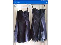 Dark purple prom dress size 10 worn once