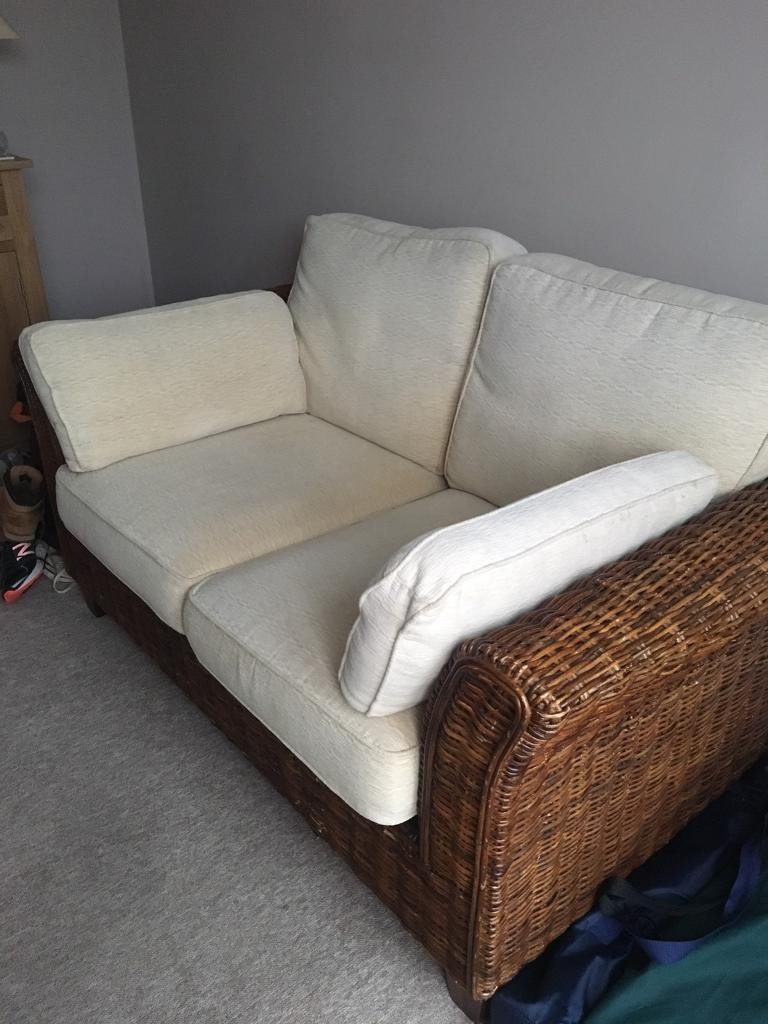 M Amp S 2 Seater Wicker Sofa In Fair Oak Hampshire Gumtree
