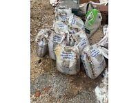 8 bags of decorative stones