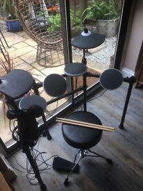 ION Redline Electriic drum kit - with stool, sticks and headphones