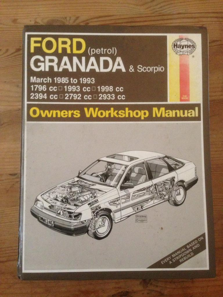Ford Granada Haynes Owners Workshop Manual