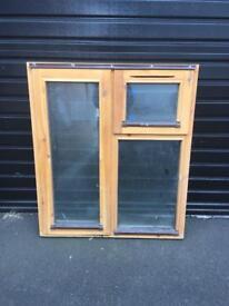 Double glazed wooden window