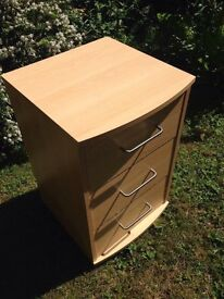 Bedside cabinet table chest small