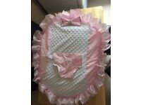 Baby Girls bean bag pink frilly diamanté bling