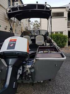 Very Tidy Runabout - Pongrass Hull with a 115 Hp Johnson Seahorse Shorncliffe Brisbane North East Preview