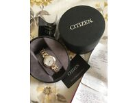 Ladies citizen watch with real diamonds