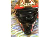 2 x motor cross helmets