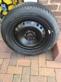 New Ford Focus wheel and new Michelin tyre