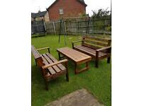 Wood furniture. Garden furniture. Wooden bench/table. Wood table and benches