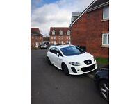 White Seat Leon Cupra K1, fully loaded 350+bhp sunroof..... FR s3 GTi Audi BMW golf a3 px swap