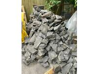 Stones for garden wall or other building use - free if collected