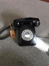 Vintage retro black GPO telephone in full working order