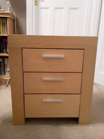Chest of drawers - 3 drawers, beech effect