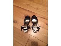 Black Open Toe Shoes. Marks and Spencer. Size 4.