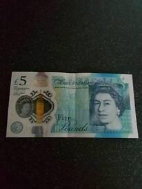 FIVE Pound note Rare AK47