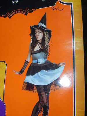 Pre-Owned Nice Witch costume, Sexy, come with dress,hat and belt. Size small 4-6