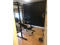 Power rack and Olympic weights for sale