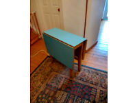 Blue formica topped folding table - Free!