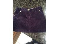 Girls Cord Skirt Aged 5