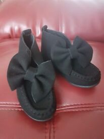 New baby shoes Baby size 27 like 9 in baby shoe never worn