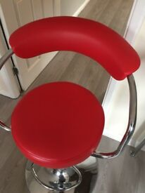Red bar / breakfast bar stool