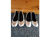 Size 3 newlook silver ballet pumps