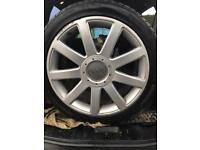 """Set of Audi rs4 A4 s4 18"""" genuine alloys tyres"""