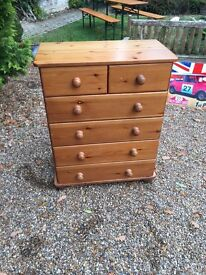 Solid pine chest of DRAWS .....