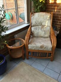 3 Purple kitchen stools, 3 seater settee and 3 piece suite - conservatory furniture