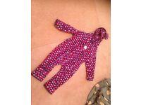 Jo jo maman bebe all in one fleece suit 18-24 months