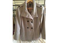 Light grey coat size 14