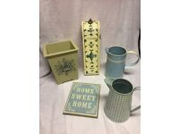 Laura Ashley Blue and Cream Home Accessories