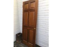 Five mahogany venerred internal doors in very good condition