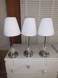 IKEA White Lamps with Bulbs