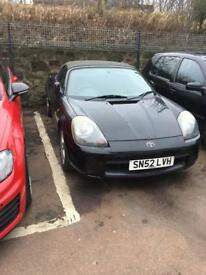 Toyota mr2 low milage years mot