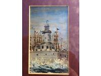 Original oil painting of Ramsgate, Kent lighthouse
