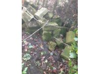 A VERY LARGE SELECTION OF STONE MAINLY FOR A WALL OR ROCKERY ORIGINAL DERBYSHIRE STONE