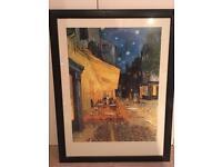 "Print of Van Gogh's ""Cafe Terrace at Night"