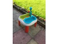Child's water and sand table.